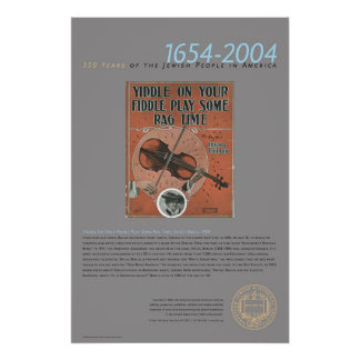 Yiddle On Your Fiddle..., Sheet Music, 1909 Poster