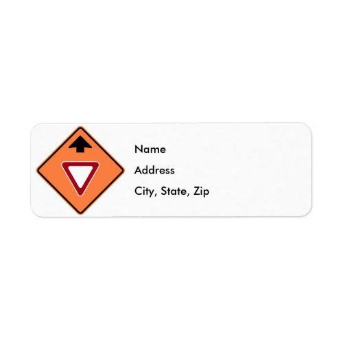 Yield Ahead Construction Zone Highway Sign Label