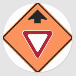 Yield Ahead Construction Zone Highway Sign Stickers