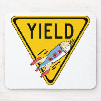 Yield For Speeding Rockets Mousepad