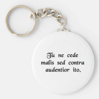 Yield not to misfortunes, but advance all the more key chain