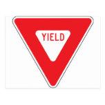 Yield Postcard