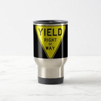 yield right of way coffee mugs