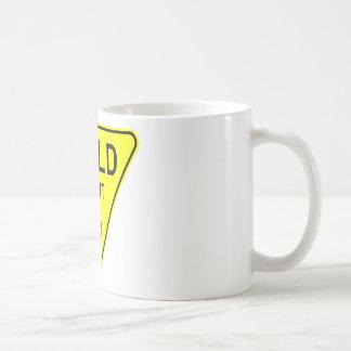yield right of way mugs
