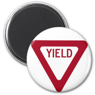 Yield Sign 2 Inch Round Magnet