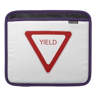 Yield Sign iPad Sleeves