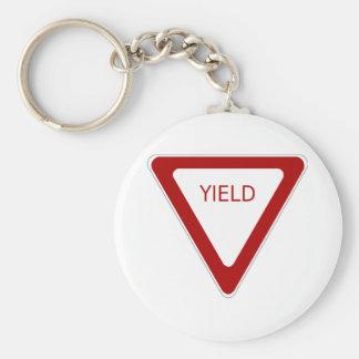 Yield Sign Keychain