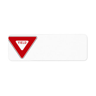 Yield Sign Label