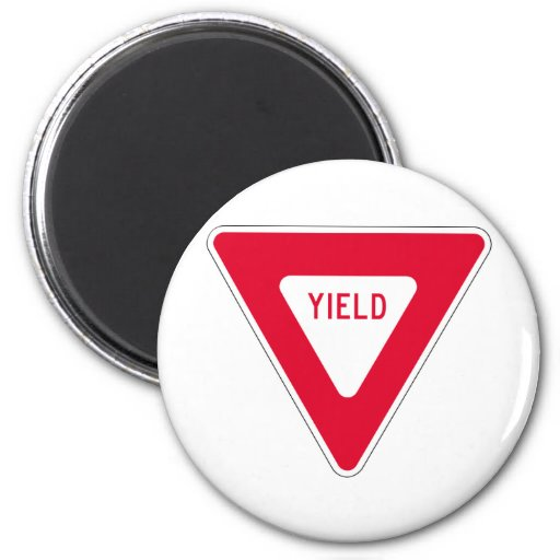 yield sign magnets