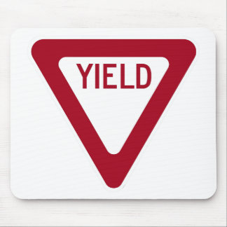 Yield Sign Mouse Pad