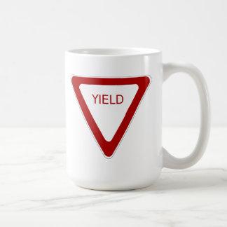 Yield Sign Coffee Mugs