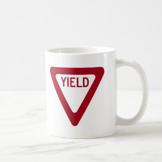 Yield Sign Coffee Mug