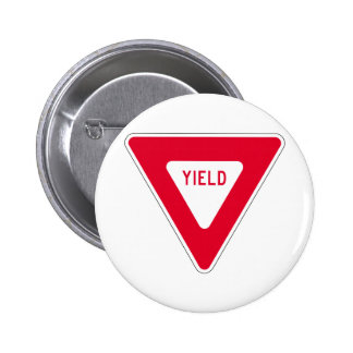 yield sign pinback button