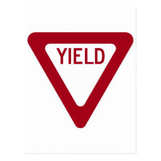 Yield Sign Post Cards