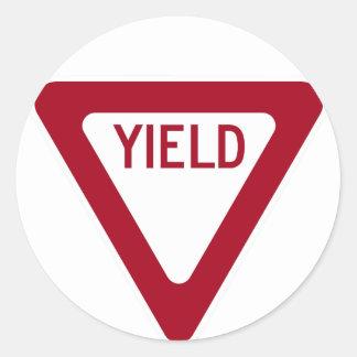 Yield Sign Round Sticker