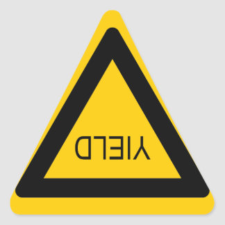YIELD SIGN TRIANGLE STICKERS