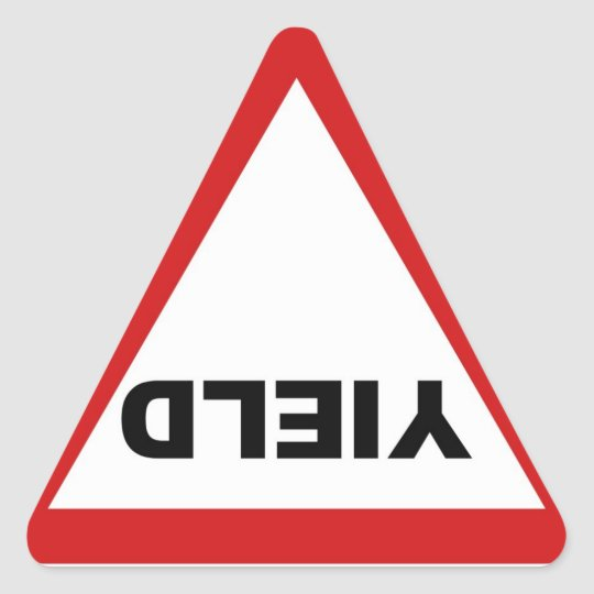 Yield Sign Sticker