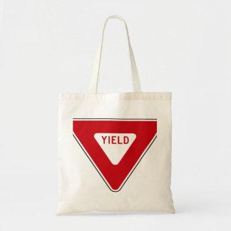 Yield Sign Tote Bag