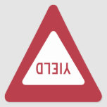 YIELD SIGN TRIANGLE STICKER
