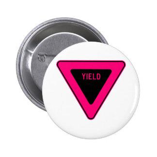 Yield Street Road Sign Symbol Caution Traffic Pinback Button