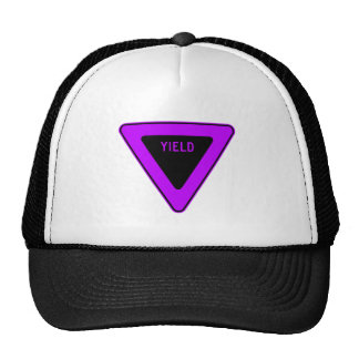 Yield Street Road Sign Symbol Caution Traffic Mesh Hats