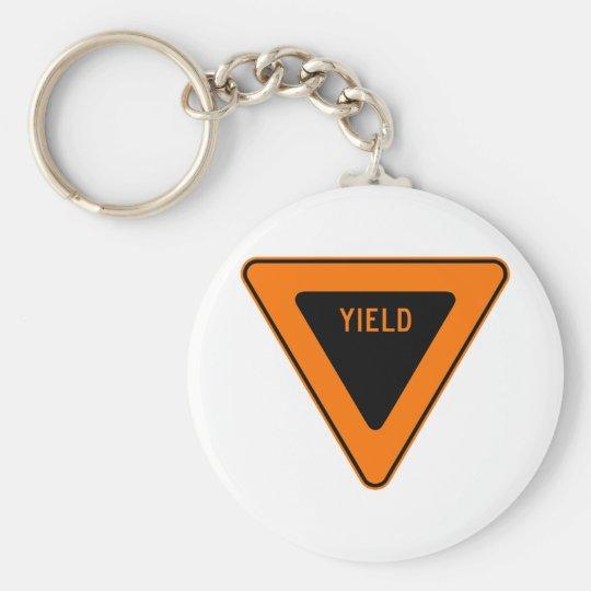 Yield Street Road Sign Symbol Caution Traffic Keychain
