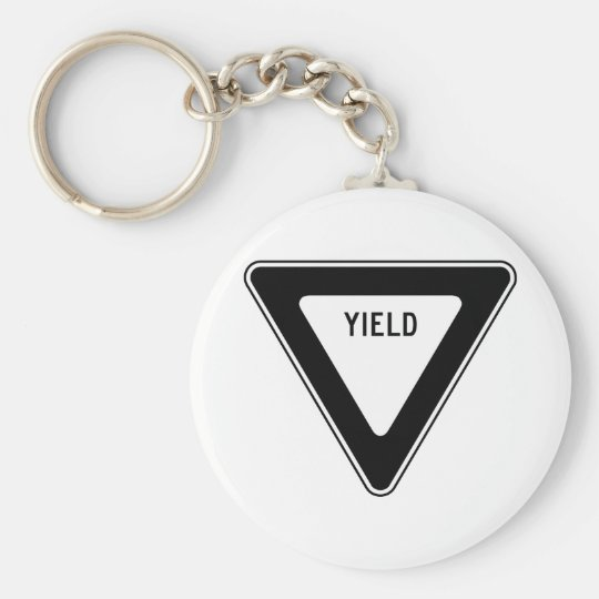 Yield Street Road Sign Symbol Caution Traffic Keychain