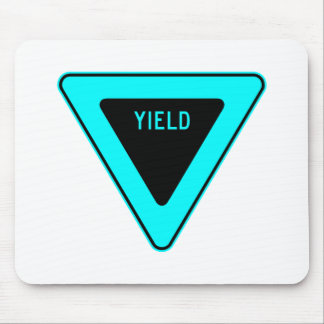 Yield Street Road Sign Symbol Caution Traffic Mouse Pad