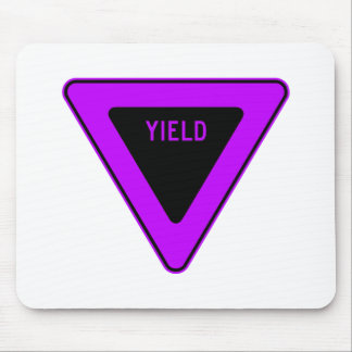Yield Street Road Sign Symbol Caution Traffic Mousepads