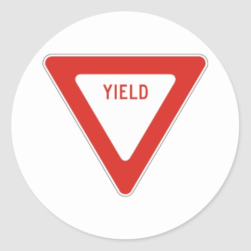 Yield Street Road Sign Symbol Caution Traffic Sticker