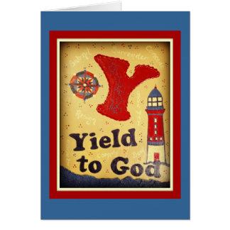 Yield To God Card