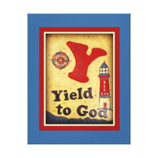 Yield To God Stretched Canvas Print