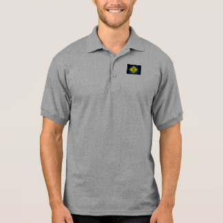 Yield to Golf Traffic Caution Sign Polo T-shirt