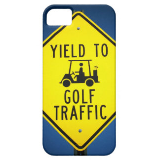 Yield to Golf Traffic Golf Cart Sign iPhone SE/5/5s Case
