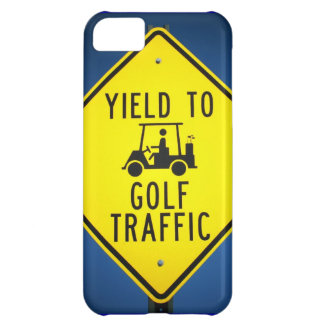 Yield to Golf Traffic iPhone 5C Covers