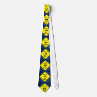 Yield To Golf Traffic Sign Tie