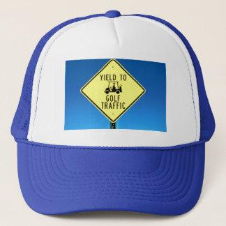 Yield to Golf Traffic Trucker Hat
