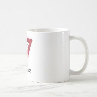 Yield To Happiness (Transportation Yield Sign) Coffee Mug