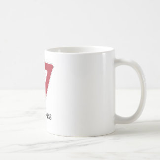 Yield To Happiness (Transportation Yield Sign) Mugs