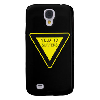 YIELD TO SURFERS SIGN SAMSUNG GALAXY S4 CASES