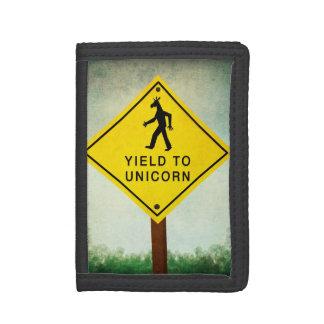 Yield To Unicorn Tri-fold Wallet