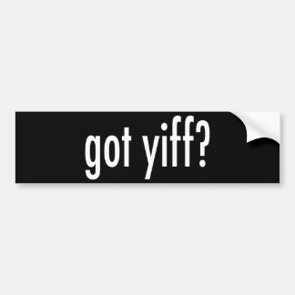 ¿yiff conseguido? etiqueta de parachoque