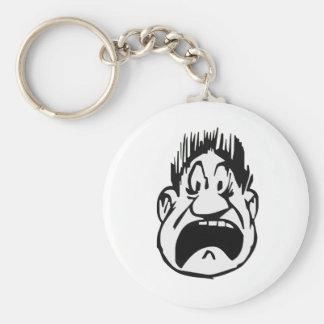 Yikes Basic Round Button Keychain
