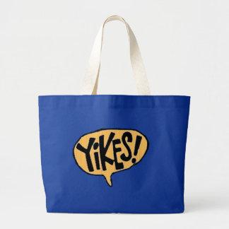 Yikes! Cartoon Exclamation Canvas Bag