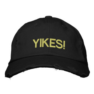 YIKES! EMBROIDERED BASEBALL HAT