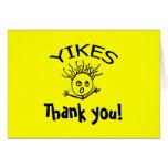 ¡YIKES, gracias! ¡la tarjeta 101 - vea la lista de