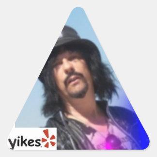 Yikes Triangle Triangle Sticker