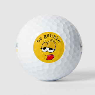 Yikes Yellow Emoji Golf Balls