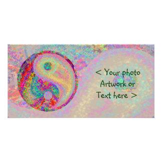 YIN afortunado YANG - para la balanza en vida Tarjetas Fotograficas Personalizadas