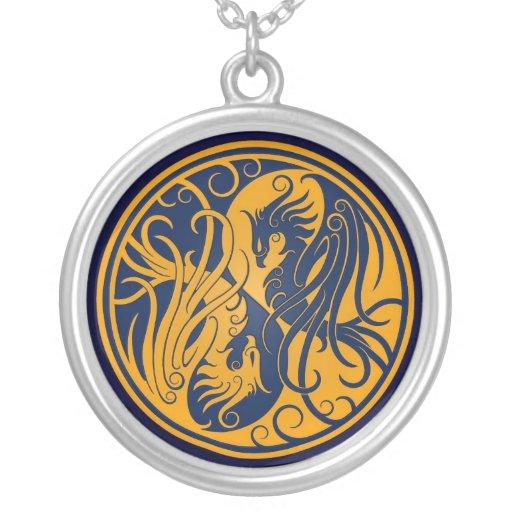 Yin amarillo y azul Yang Phoenix Grimpola Personalizada